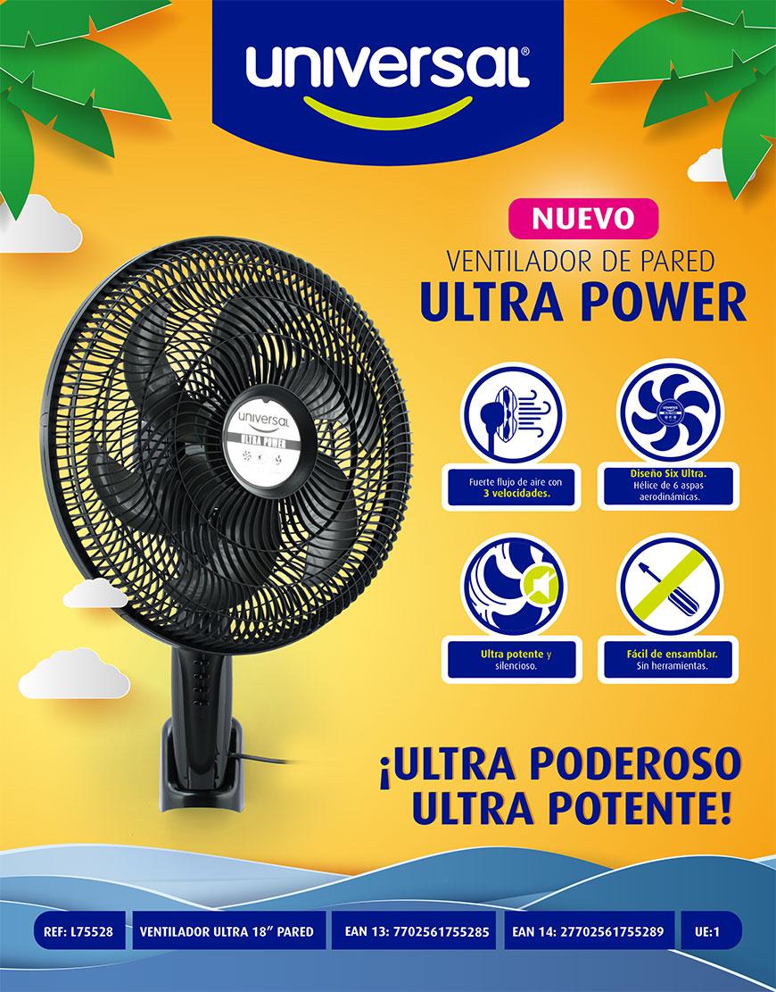 Ventilador Ultra Power pared